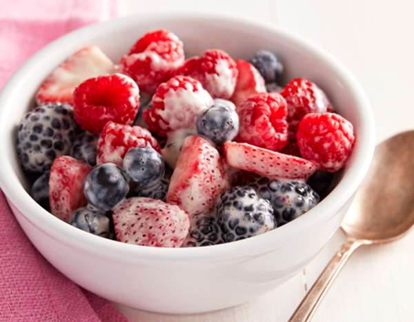Berry Salad with Strawberry Yogurt Dressing