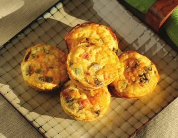 Quiche Cups, made with BiPro Whey Protein Isolate