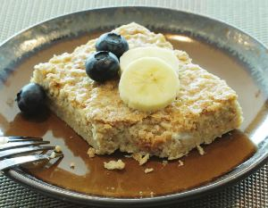Baked Oatmeal, made with BiPro Whey Protein Isolate