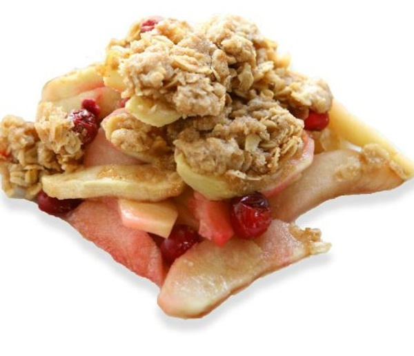 Cranberry Pear Crisp, made with Whey Protein
