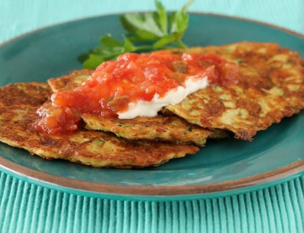 Zucchini Patties, made with BiPro Whey Protein Isolate