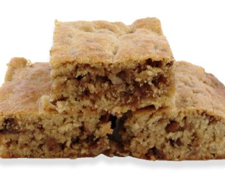 Toffee Chip Blondies made with Whey Protein