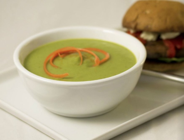Cream of Broccoli Soup, made with BiPro Whey Protein Isolate