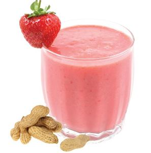 Peanut Butter & Jelly Smoothie, made with BiPro Whey Protein Isolate