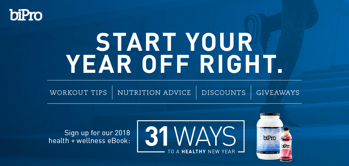 Start 2018 off right with our health and wellness program, 31 Ways to a Healthy New Year